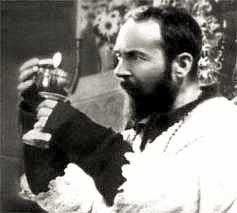 Padre Pio celebrating the Holy Sacrifice of the Mass