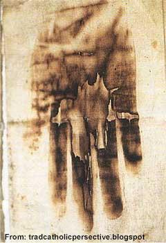 Burned hand print